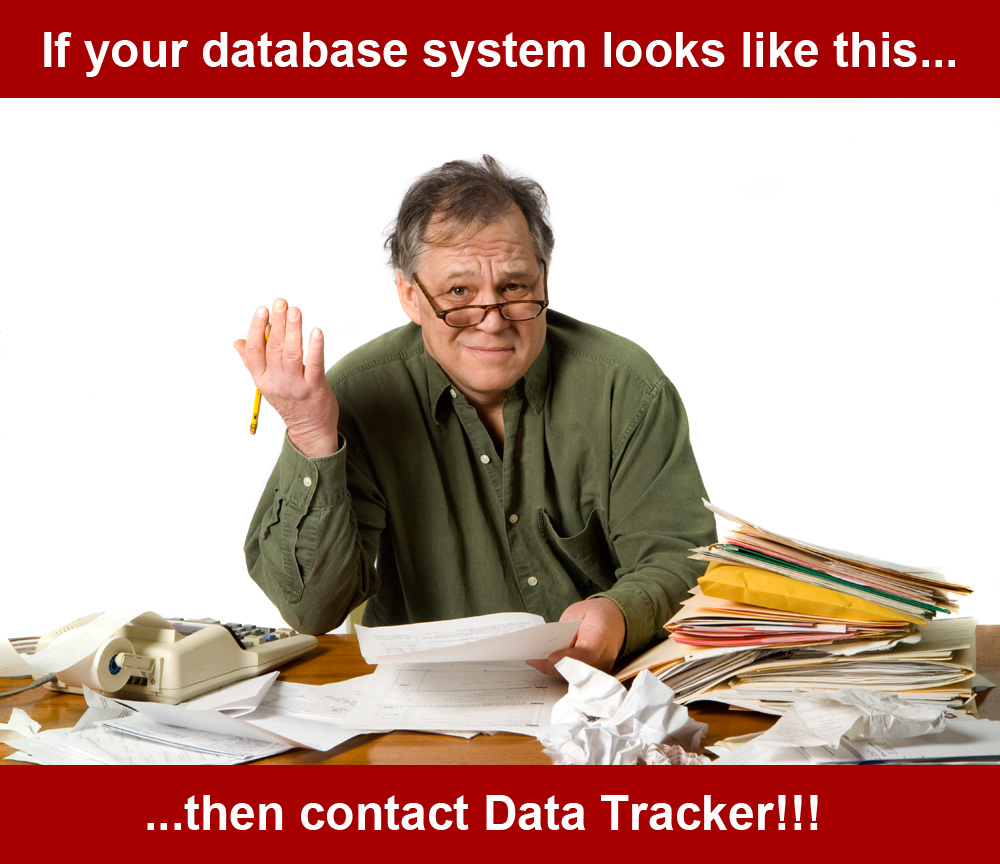 If you're not confident in your old paper-based reporting system then contact Data Tracker!